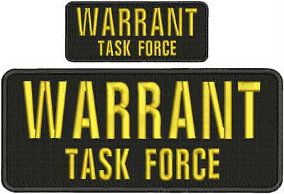 Immigration Task Force embroidery patches 4x10 and 2x5 hook on back