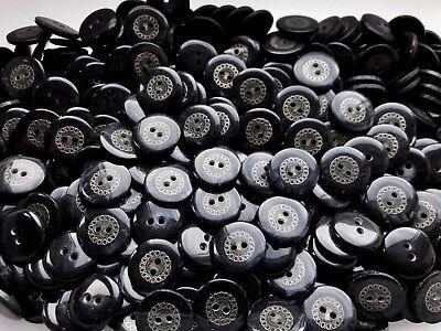 S38 18mm 28L Negro Interior De Metal Oro Antiguo Nacarado /& Craft 2 Agujero Botones
