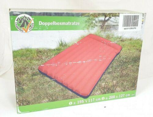 Happy People Luftmatratze Doppelboxmatratze 200 x 127cm 78014 *TOP* blau//rot