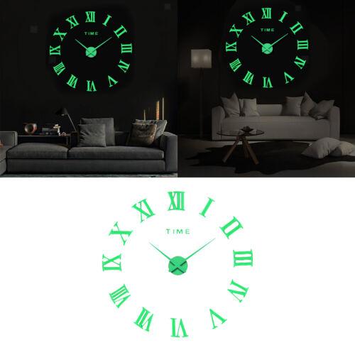 Wand Montieren Leucht Uhr DIY 3d Moderne Home Wohnzimmer Decor Kunst Uhr