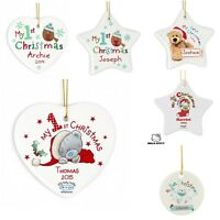 PERSONALISED Baby's My First My 1st Christmas Tree Bauble Tree Decoration