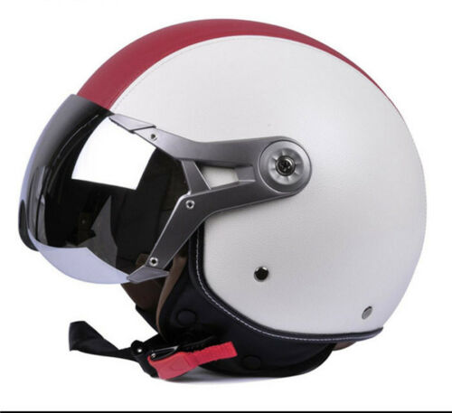Retro Motorcycle Helmets 3//4 Open Face Anti-fog Scooter Riding Protective Gear