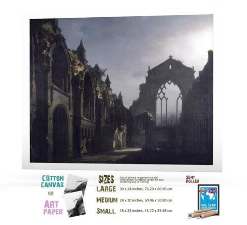Louis Daguerre French Scotland Edinburgh Ruins Of Holyrood Chapel ART