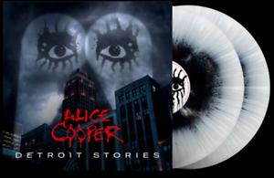 Alice Cooper - Detroit Stories  Black White Splatter 2 Vinyl LP 1000 Worldwide