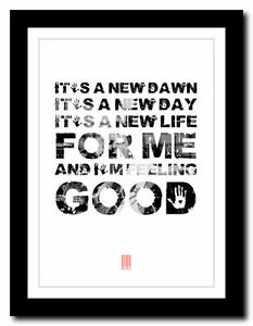 MUSE-Feeling-Good-song-lyric-poster-typography-art-print-4-sizes