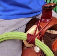 Lariat Rope Holder Strap 45 Soft Latigo Leather Amish Made Free Shipping