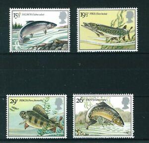 GB-QE-II-1983-British-River-Fish-full-set-of-stamps-Mint-Sg-1207-1210