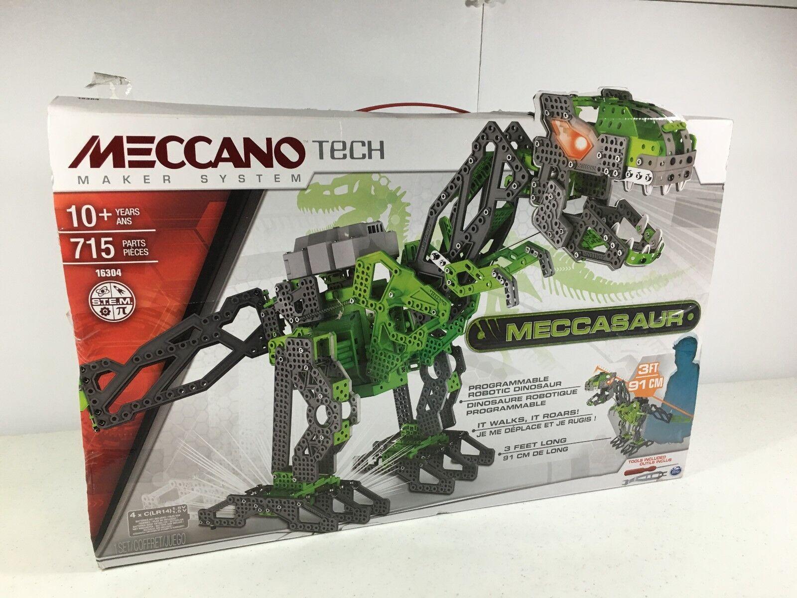 Meccano Tech Meccasaur 16304  Robotic Dinosaur See Description