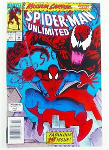 Marvel-SPIDER-MAN-UNLIMITED-1-Key-1st-SHRIEK-App-NEWSSTAND-VF-8-0-Ships-FREE