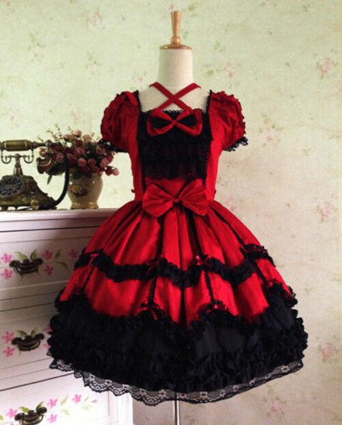Vintage Gothic Cute Lolita Skirt Dress Sweet Kawaii Dress Cosplay Costume