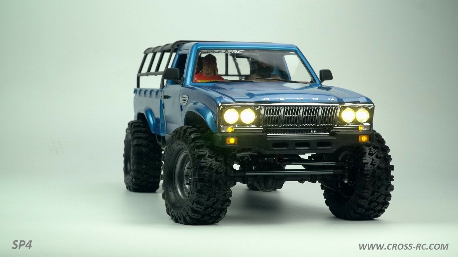 SP4C 1 10 Demon 4x4 Crawler  Kit-Full Hard corpo Full Metal, CNC Rims CZRSP4C  fino al 60% di sconto