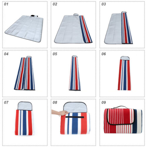 2mX 2m Extra Large 3-Layers Soft Picnic Blanket Rug Waterproof Mat Camping Beach