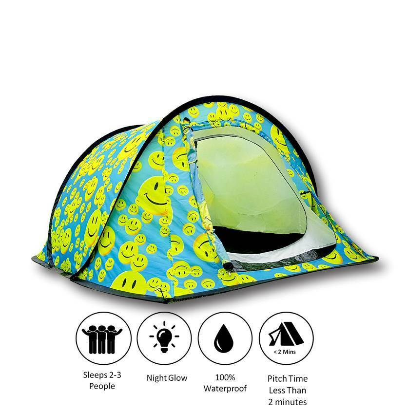 Festival Glow Tent (Smiley  Face)  order now enjoy big discount