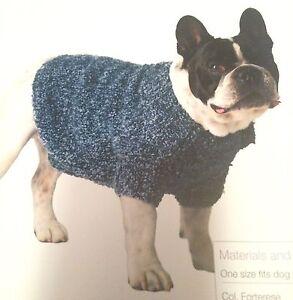 Dog Coat Easy Kniit 12 to 15 kg Knitting Pattern eBay