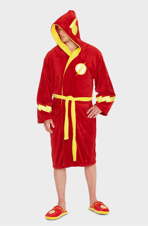 Dc Comics The Flash Superheld Fleece mit Kapuze Bademantel