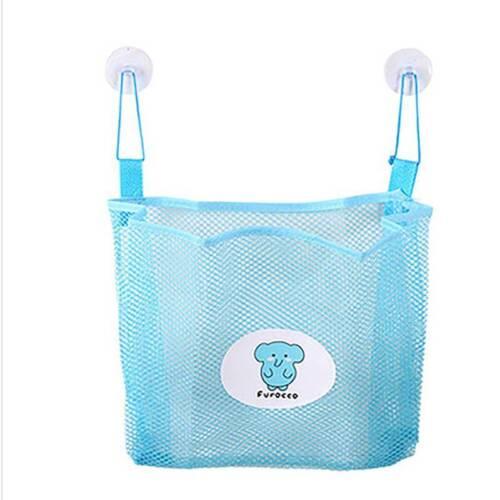 Baby Bath Time Tidy Storage Toy Suction Cup Organiser Bag Mesh Bathroom Net q