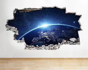 Tierra-del-planeta-del-espacio-de-la-l-pegatina-pared-vinilo-3d-habitacion-ninos