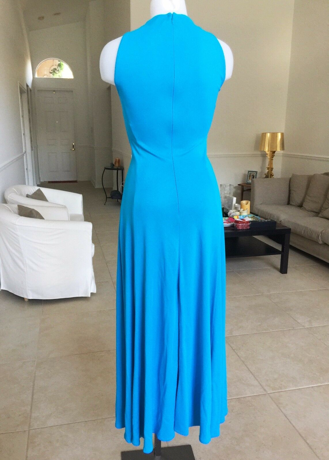 GIANNI VERSACE COUTURE turquoise evening gown, from summer 1993 1993 1993 9b735e