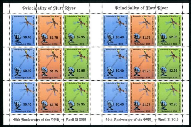 Principality of Hutt River 48th Anniversary 2018 MUH complete sheet as shown