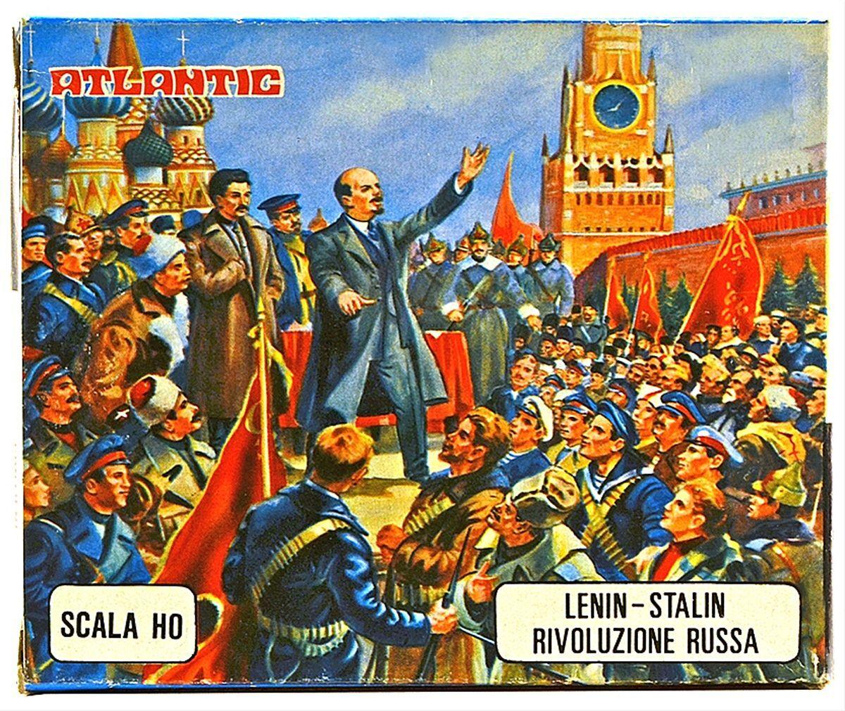 Atlantic Lenin-Stalin Russian Revolution- set 10009 - mint-in-box - 1 72nd scale