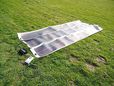 3 x 100W, 300W Solar Battery Charging Kit 12V camper Flexible roll up solar kit