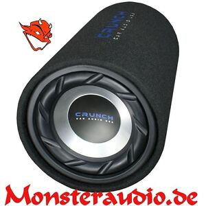 Crunch-GTS-250-25cm-Bassreflex-Bassrolle-Basstube-Subwoofer-Subrolle-500-Watt