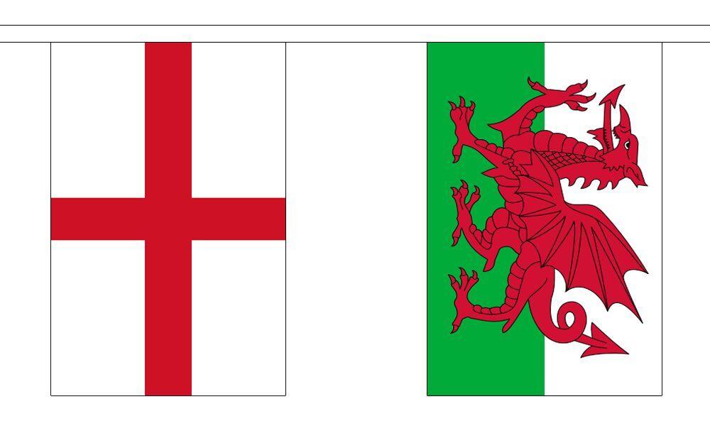 rugby à XV 6 6 6 NATIONS polyester Banderole DRAPEAUX - 6m long avec 18 DRAPEAUX df7e52