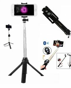 PERCHE-SELFIE-STICK-BRAS-TELESCOPIQUE-TELECOMMANDE-TREPIED-2-EN-1-NEW-2017