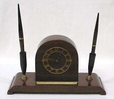 Vintage PARKER Desk Clock and Pen Pencil Set 1940s Art Deco