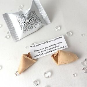 Image Is Loading Wedding Wishes Fortune Cookies