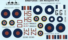 de Havilland Mosquito Pt:2 1/72nd scale decals