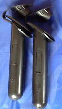 Portacañas de X 2 flushmount Negro Plástico Con Tapa De Pesca Kayak Bote Yate