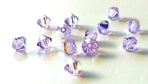 3c0bc29353cfb 36 Pcs - Swarovski® Crystal #5301 8mm Bicone - VIOLET AB - Jewelry ...