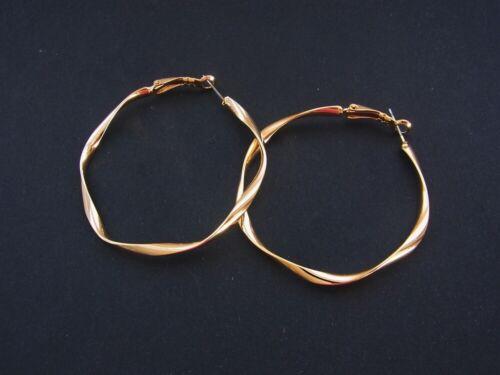 Ohrschmuck Ohrringer Creolen Welle Ø 5cm im Silber oder Gold
