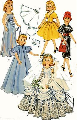 Vintage Doll Clothes Pattern 2342 for 18 inch Revlon Toni Sophisticate Cindy