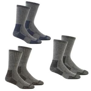 Mens-2-Pack-Cushioned-Wool-Blend-Walking-Socks-Size-UK-6-11