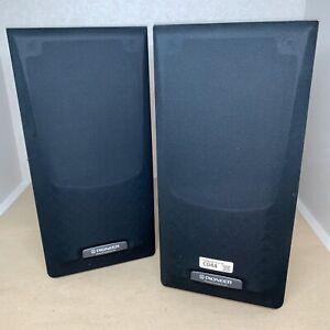 Pair-Pioneer-S-J130-Stereo-Speakers-Black-Tested-Working-C044