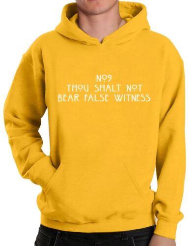 Ten Commandments Hoodie Hotel Horrors Thou Shalt Not Bear False Witness