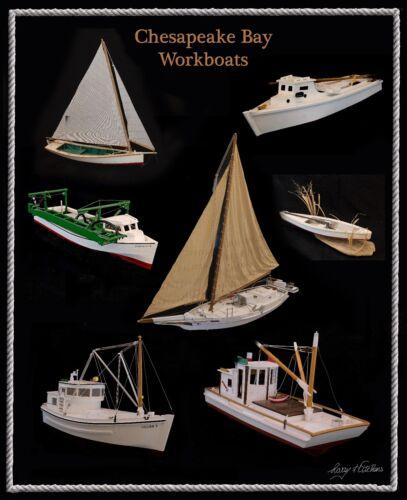 "Chesapeake Bay Workboats Version One 16x20/"" Poster Print"