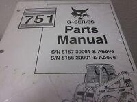 Bobcat 751 Series Skid Steer Loader Parts Manual