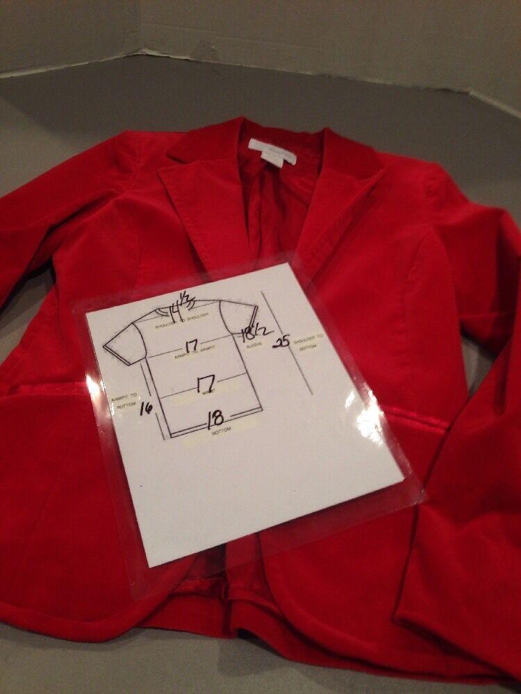 Women's 4 Marshall Field's Red Velvet Blazer - image 2