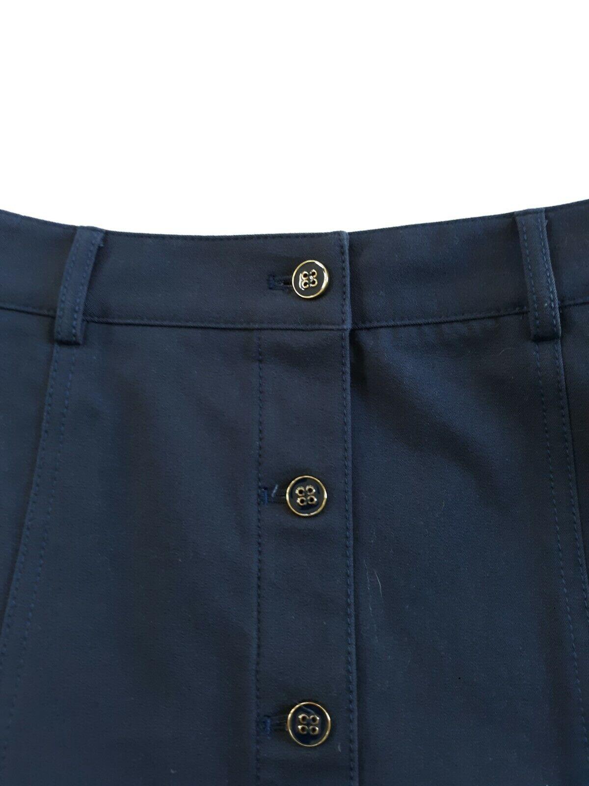 J McLaughlin Teal Button Front A Line Skirt Size 2 - image 8