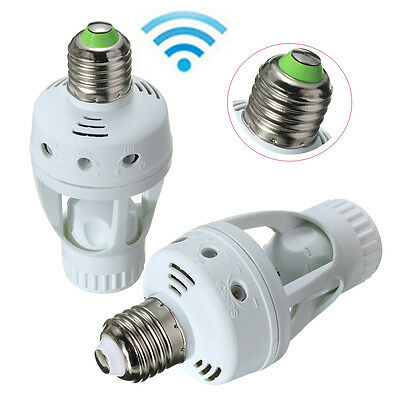 E27 LED Infrared PIR Motion Sensor Lamp Bulb Socket Holder Switch AC 110V 220V