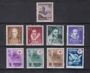 SPAIN-ANO-1950-MNH-NUEVO-SIN-FIJASELLOS-ESPANA-EDIFIL-1070-87-SIN-1075-1083B