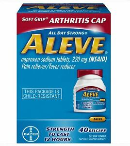 Aleve Arthritis Cap 40 Gel Caps 220 Mg By Bayer Sealed Exp
