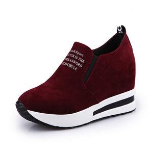 1-Pair-Women-Suede-Hidden-Wedge-Platform-Shoes-Athletic-Walking-Sports-Sneakers