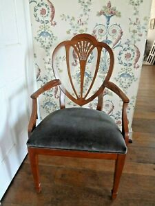 Vintage-Ethan-Allen-side-arm-chair-Traditional-Chippendale-style-pickup-19119