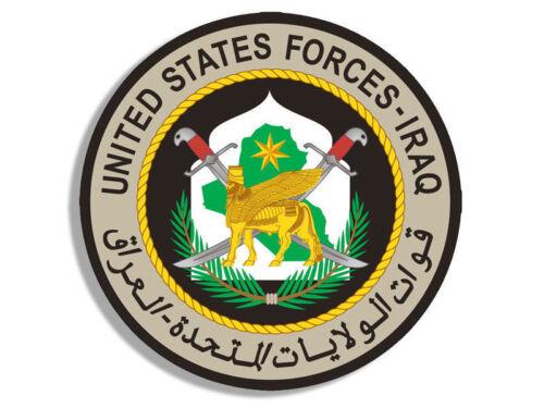 "4/"" UNITED STATES FORCES IRAQ HELMET BUMPER DECAL CAR STICKER USA MADE"