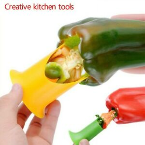 2Pcs Pepper Cutter Tool Fruit Peeler Kitchen Easy Remove The Chili Core Tool