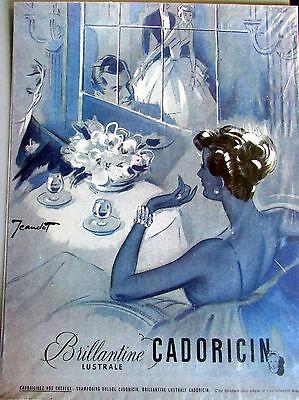 CADORICIN / BRILLANTINE / JEANDOT  / PA 12 / PARFUM  / PUBLICITE ANCIENNE